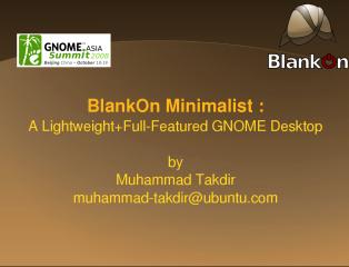 BlankOn Minimalist Presentation file